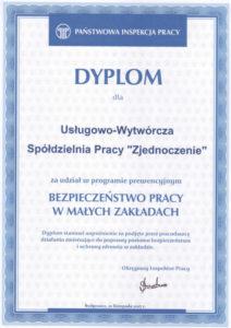 UWSP Zjednoczenie - Dyplom PIP