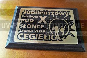 Tabliczka pamiątkowa - Plakieta na podkładzie - UWSP ZJEDNOCZENIE Toruń