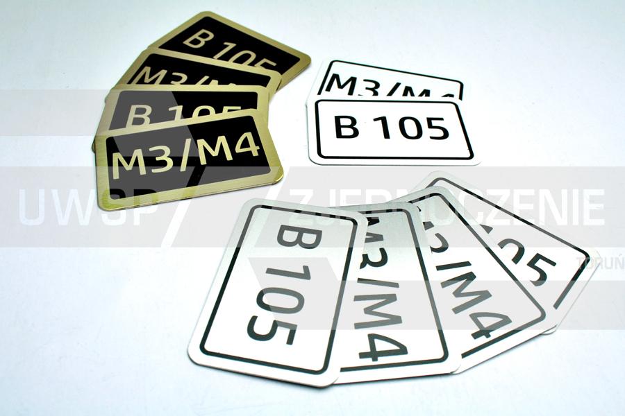 Tabliczki oznaczeniowe - wizytówki i numerki na drzwi - UWSP ZJEDNOCZENIE Toruń