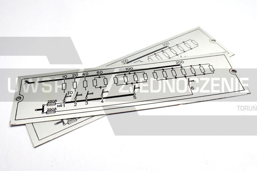 Tabliczka schemat - Aluminium - UWSP ZJEDNOCZENIE Toruń