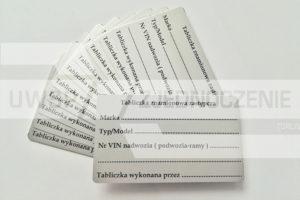 Tabliczka zastępcza - aluminium - UWSP ZJEDNOCZENIE Toruń