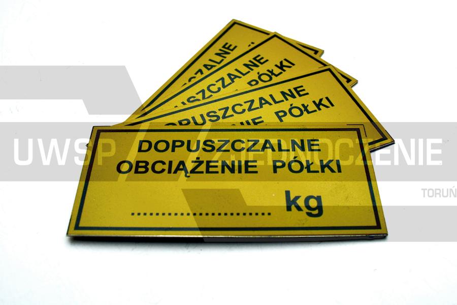 Tabliczka informacyjna - Aluminium - UWSP ZJEDNOCZENIE Toruń