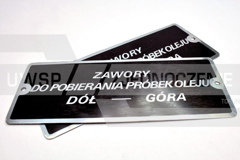 Tabliczka oznaczeniowa - cynk - UWSP ZJEDNOCZENIE Toruń