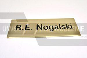 Tabliczka - Wizytówka na drzwi - mosiądz - UWSP ZJEDNOCZENIE Toruń