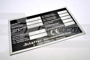Tabliczka znamionowa odtworzona - aluminium - UWSP ZJEDNOCZENIE Toruń