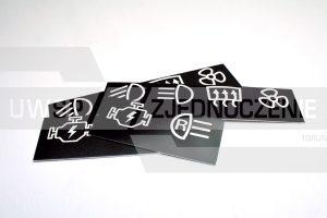 tabliczka na deskę rozdzielczą do auta - aluminium - UWSP ZJEDNOCZENIE Toruń