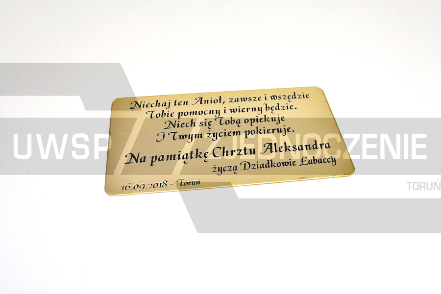 Tabliczka pamiątkowa - mosiądz trawiony - UWSP ZJEDNOCZENIE Toruń
