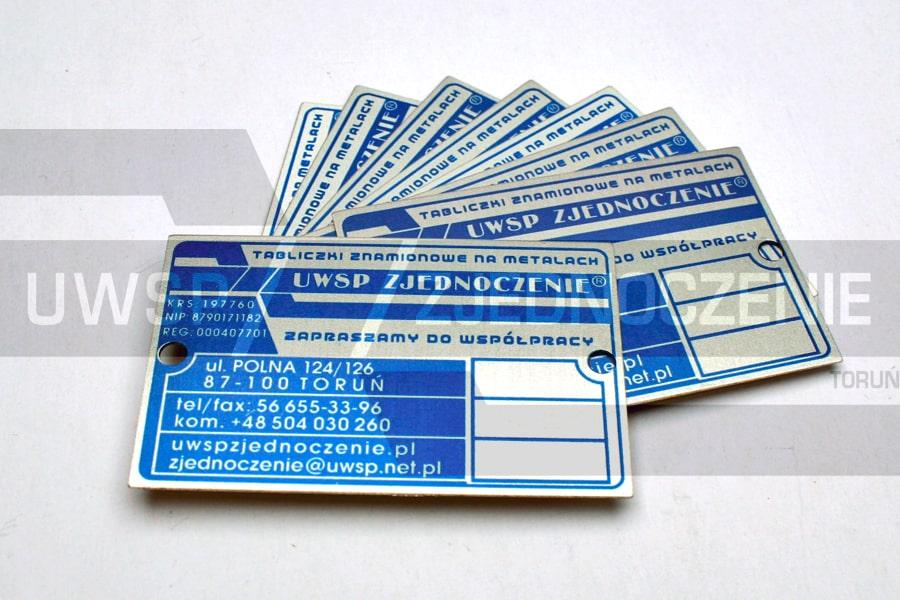 Tabliczka znaminowa - aluminium matowane - UWSP ZJEDNOCZENIE Toruń